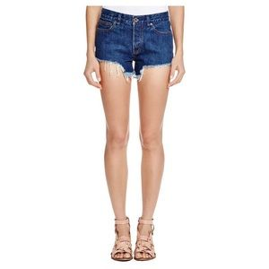 Free People Denim Frayed Shorts 24
